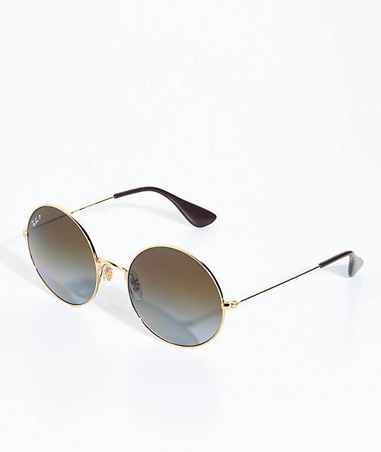 Ray-Ban Jajo Gold Sunglasses