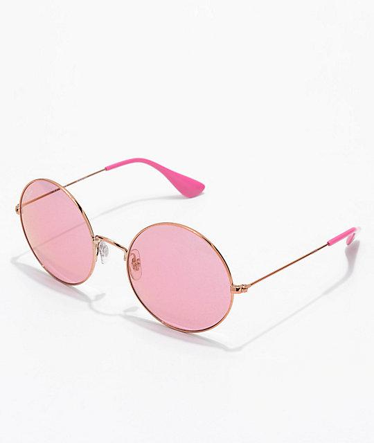 Ray-Ban Jajo gafas de sol rosas   Zumiez fd123452d6