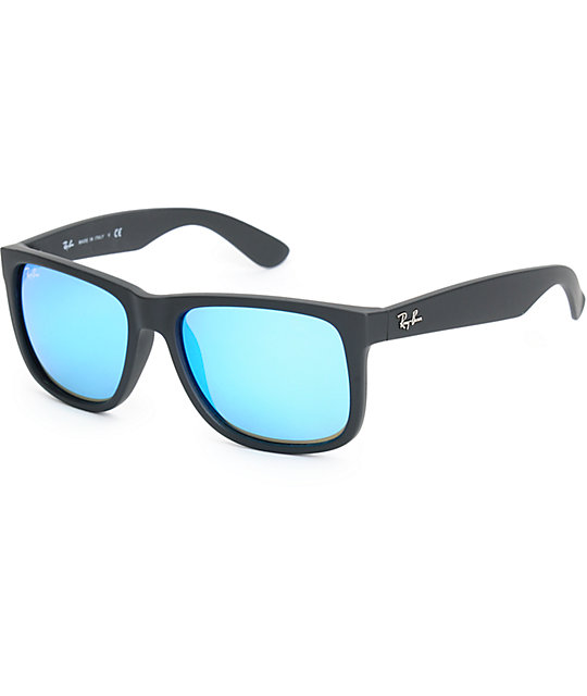 Ray Ban Justin Blue Mirror Sunglasses Zumiez