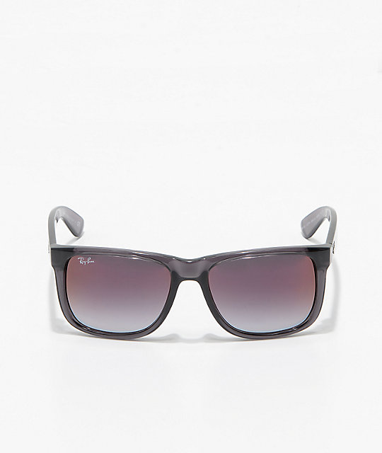 Ray-Ban Justin Grey & Gradient Red Mirror Sunglasses