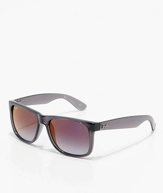 Ray Ban Justin Grey Gradient Red Mirror Sunglasses Zumiez