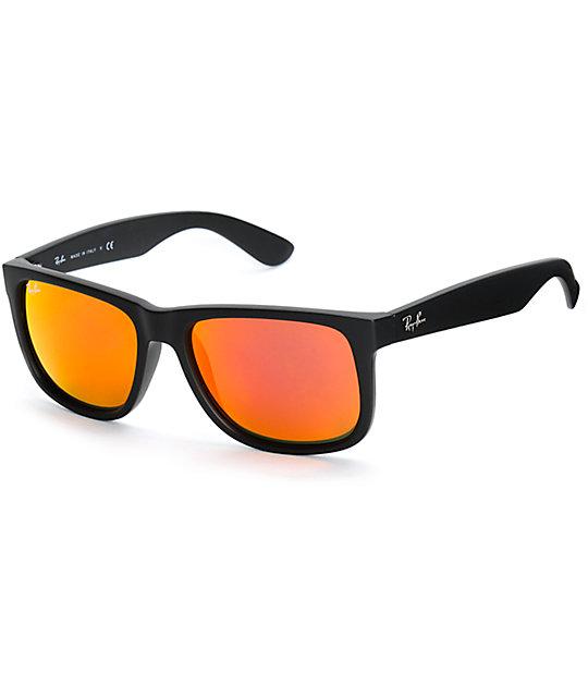 código promocional b2846 02b78 Ray-Ban Justin gafas de sol en negro y rojo