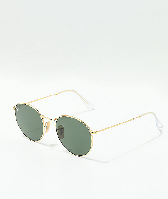 Ray-Ban Lennon Crystal Green & Gold Sunglasses