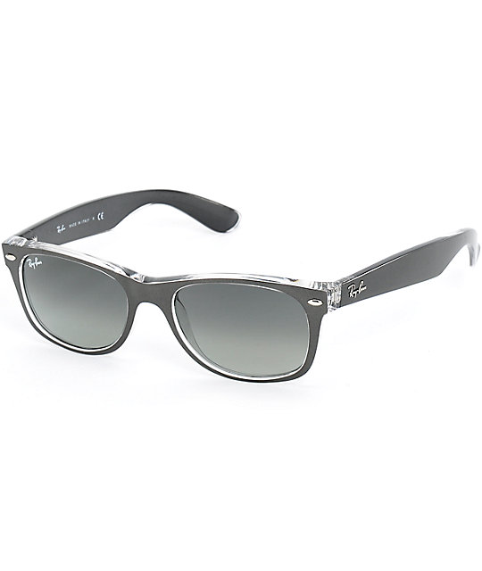 Ray-Ban New Wayfarer Gunmetal Translucent Sunglasses  228e98a9cfd66