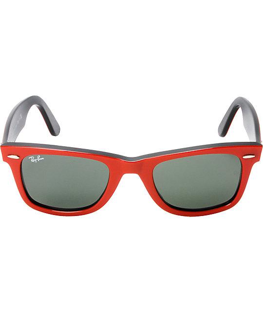 48e041cd17188 ... sweden ray ban original wayfarer red black sunglasses 2b37b 0226f
