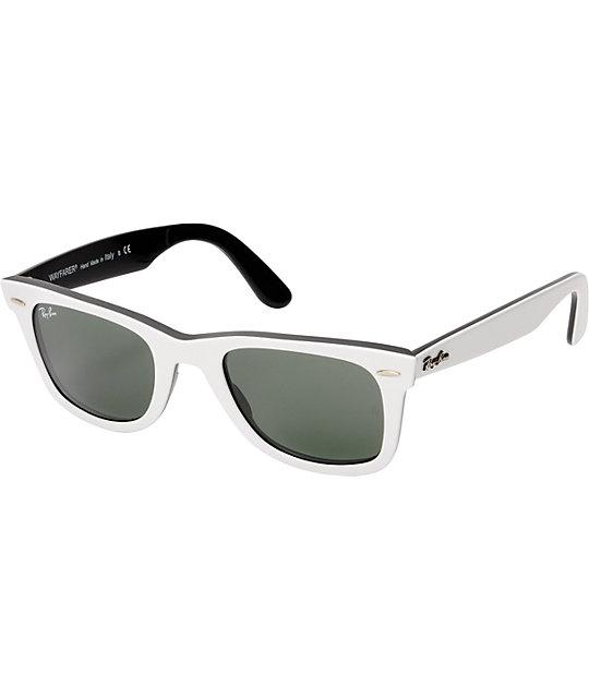 Ray-Ban Original Wayfarer White & Black Sunglasses   Zumiez