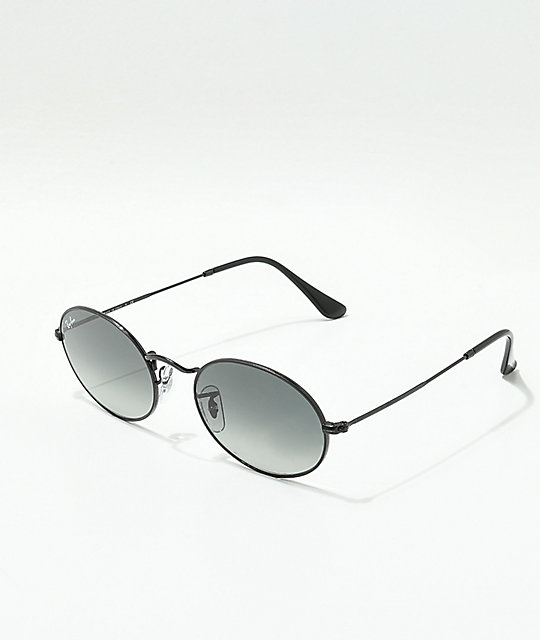 Ray-Ban Oval Black & Grey Sunglasses