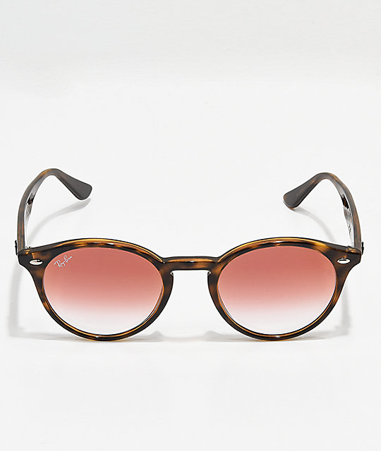 Ray-Ban RB2180 Tortoise & Red Gradient Mirror Sunglasses