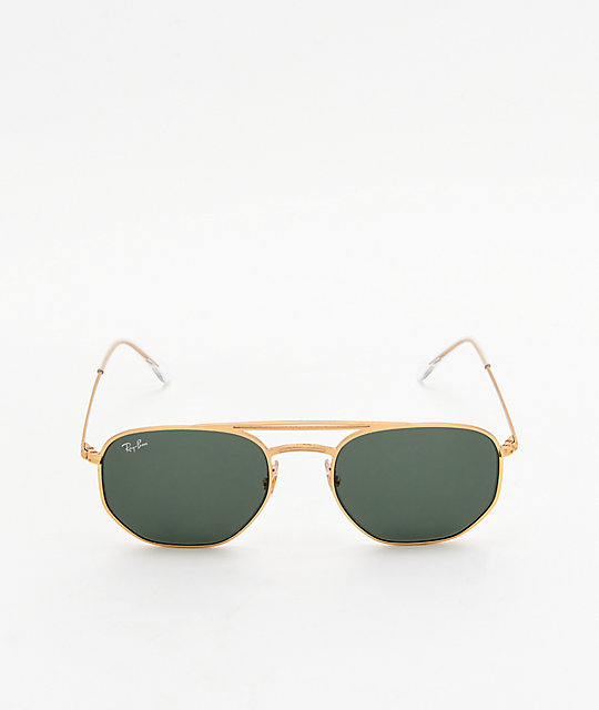 Ray-Ban RB3609 Demi Gloss Gold & Green Sunglasses