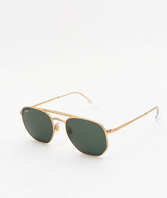 ef198aa7bd Ray-Ban RB3609 gafas de sol semi brillantes de oro y verdes | Zumiez