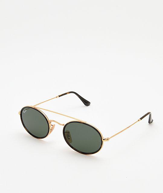la mejor actitud 8ae64 11887 Ray-Ban RB3847N gafas de sol ovaladas de oro y verdes