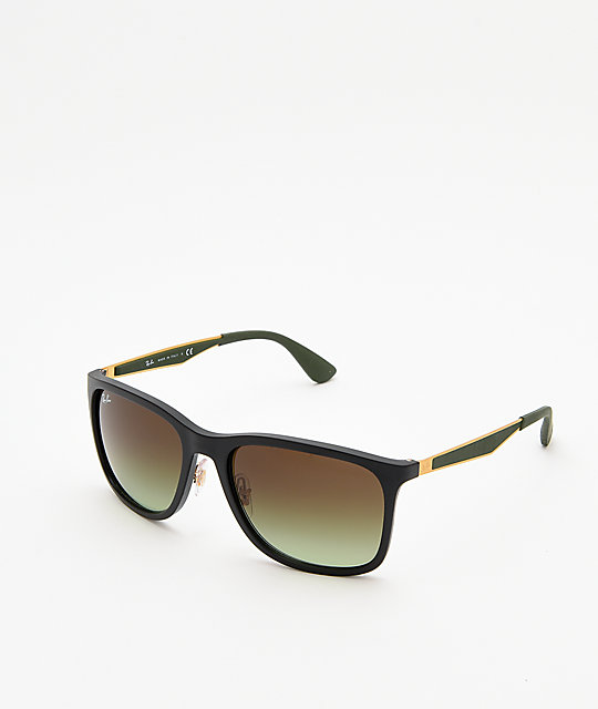 96a8c4f9b9 Ray-Ban RB4313 Matte Black   Gold Sunglasses ...