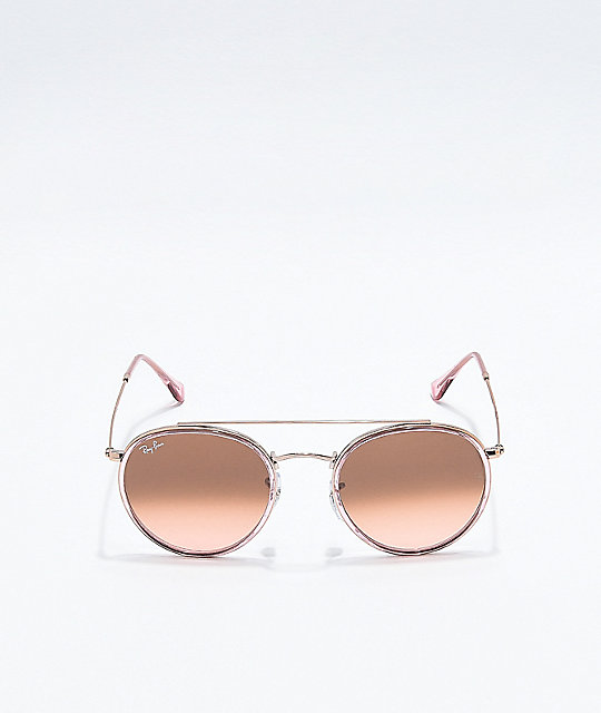 e9a9b53025 ... Ray-Ban Round Double Bridge Copper Gradient Sunglasses ...
