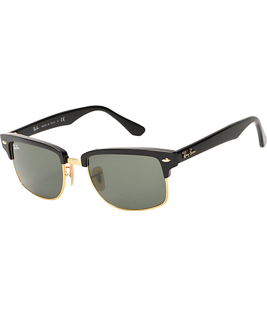 1d678daaef7 Ray-Ban Square Clubmaster Black Sunglasses