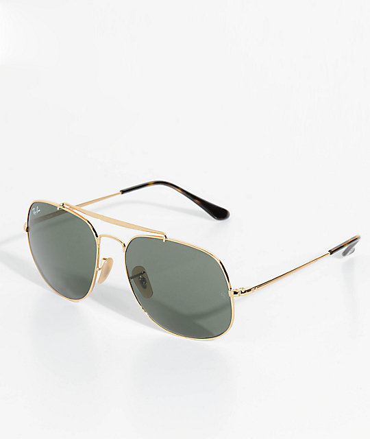 Ray-Ban The General Black & Gold Sunglasses