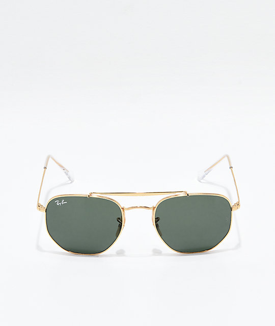 Ray-Ban The Marshal Gold & Green Gradient Sunglasses
