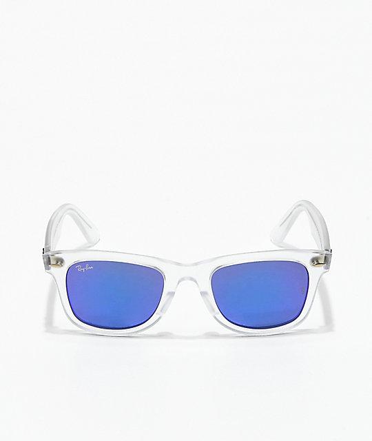 270980535626 ... low cost ray ban wayfarer ease transparent violet mirror sunglasses  f197e b8891