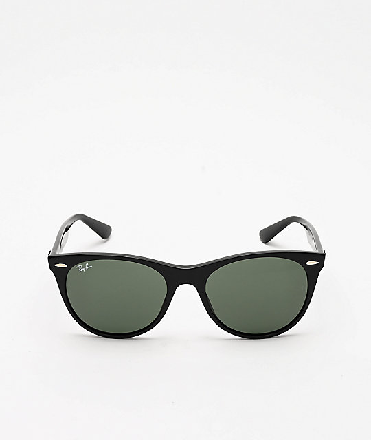 Ray-Ban Wayfarer II Black & Green Sunglasses