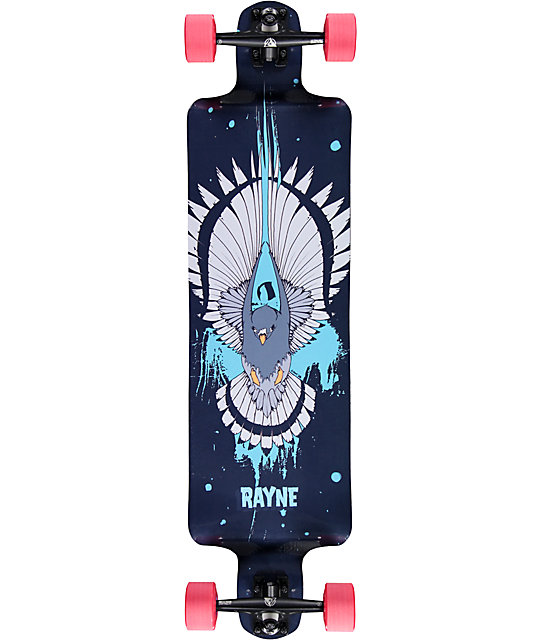 "Rayne Nemesis Black Hawk 39""  Drop Down Longboard Complete"