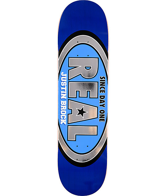 "Real Brock Classic Oval R1 Construction 8.0""  Skateboard Deck"