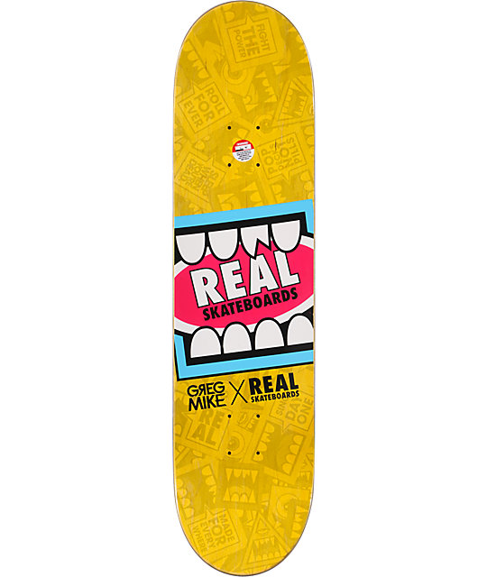 "Real Greg Mike Cyclops 8.125""  R1 Construction Skateboard Deck"