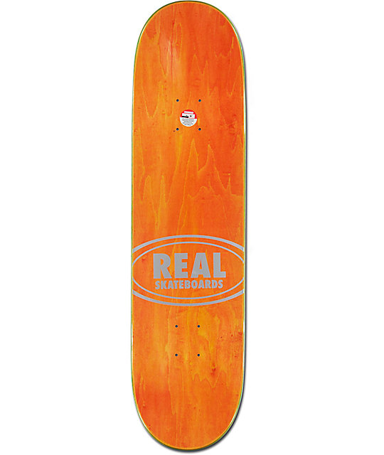 "Real Ishod Fabric Oval Embossed 8.25""  Skateboard Deck"