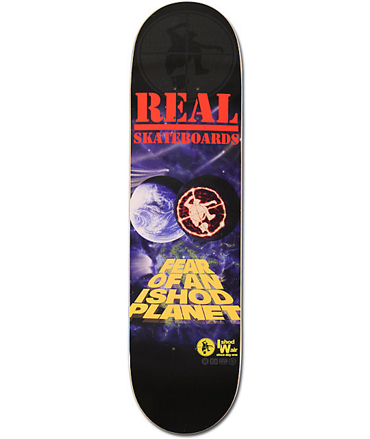 "Real Ishod Planet 8.18""  Skateboard Deck"