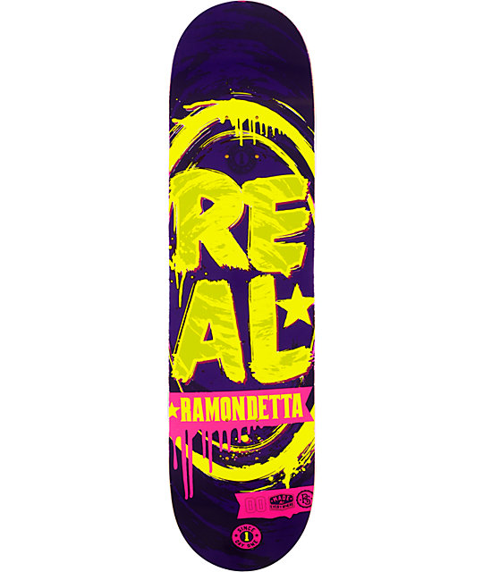 "Real Ramondetta Paint The Town R1 8.125""  Skateboard Deck"