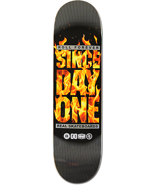 "Real Since Day One Block Is Hot 8.38""  Skateboard Deck"