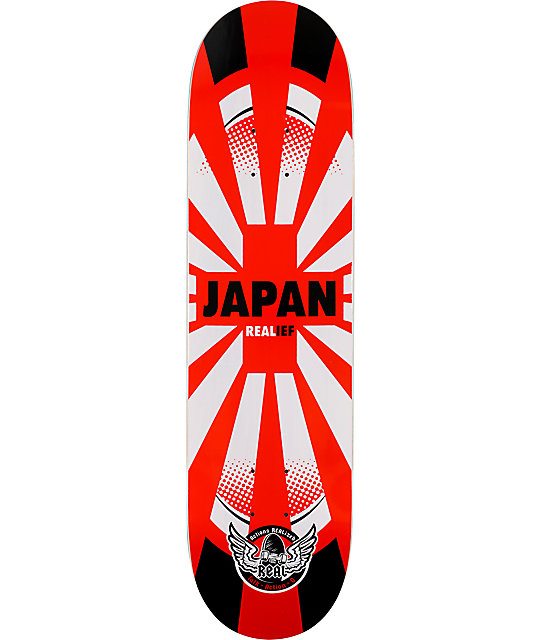 "Real Skateboards Japan Relief 8.06""  Skateboard Deck"