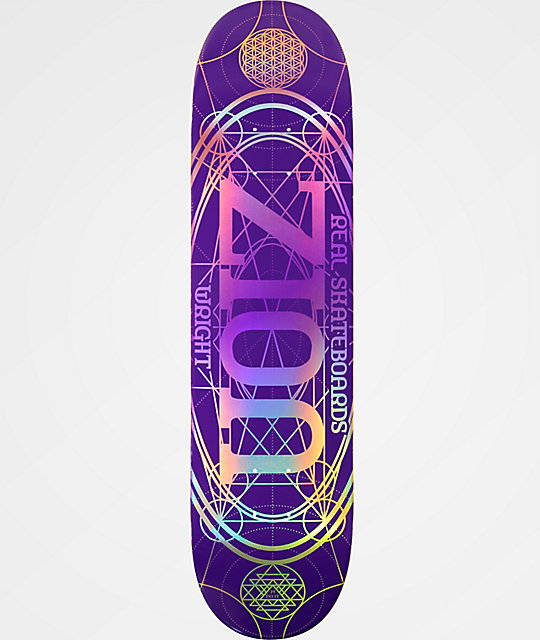 "Real Zion Oval 8.06"" tabla de skate morada"