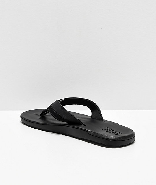1a5f68d771ae ... Reef Contoured Cushion Black On Black Sandals ...
