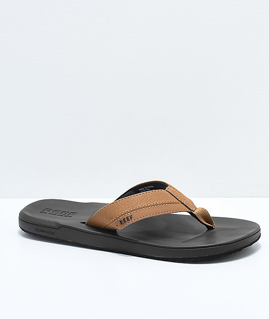 94bf05bdb86a Reef Contoured Cushion Brown Sandals