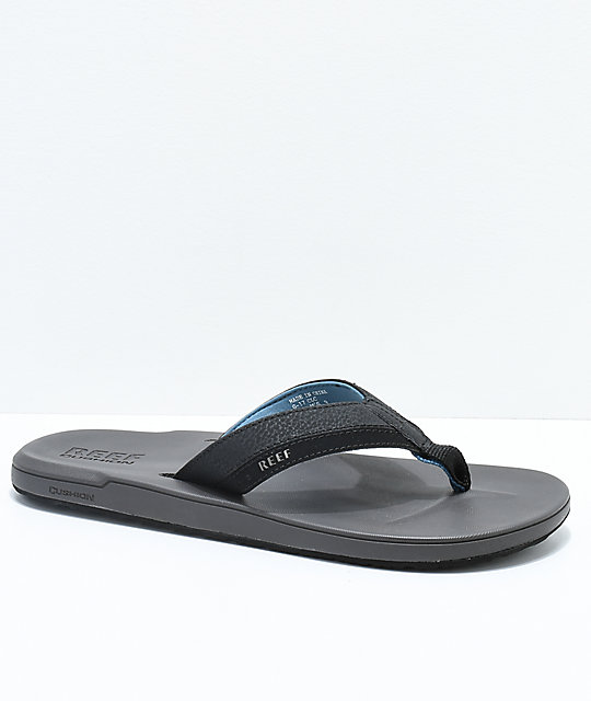Reef Contoured Cushion Grey & Blue Sandals