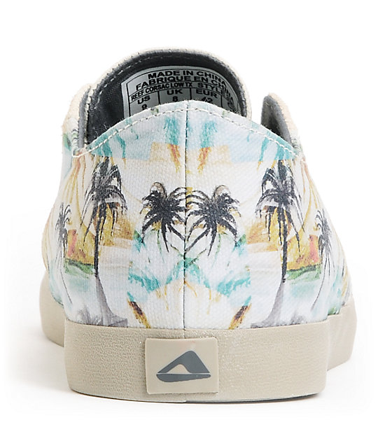 Reef Corsac Low TX Natural & Hawaiian Print Canvas Shoes