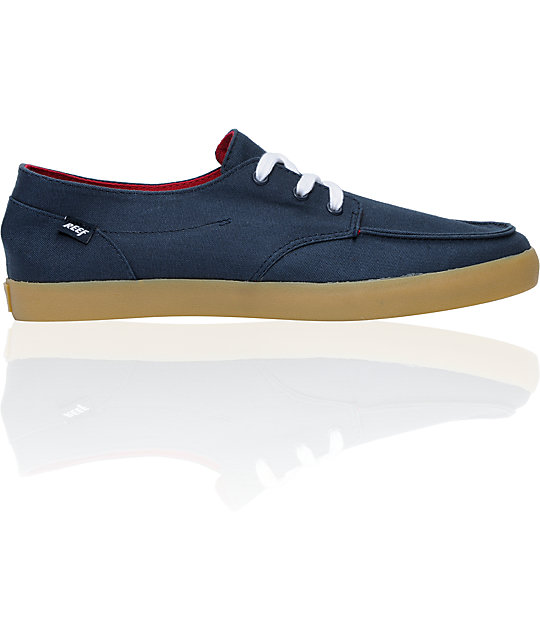 Reef Deck Hand 2 Blue Canvas Shoes