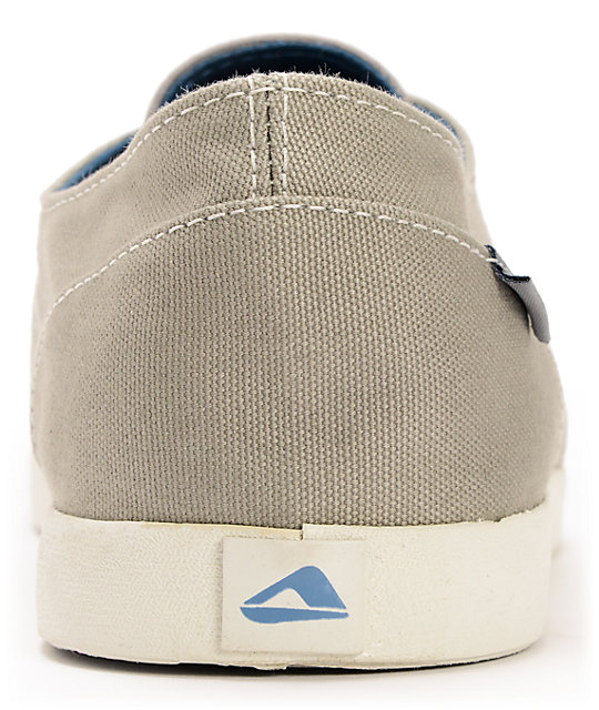 Reef Deck Hand 2 Light Grey Canvas Boat Shoes