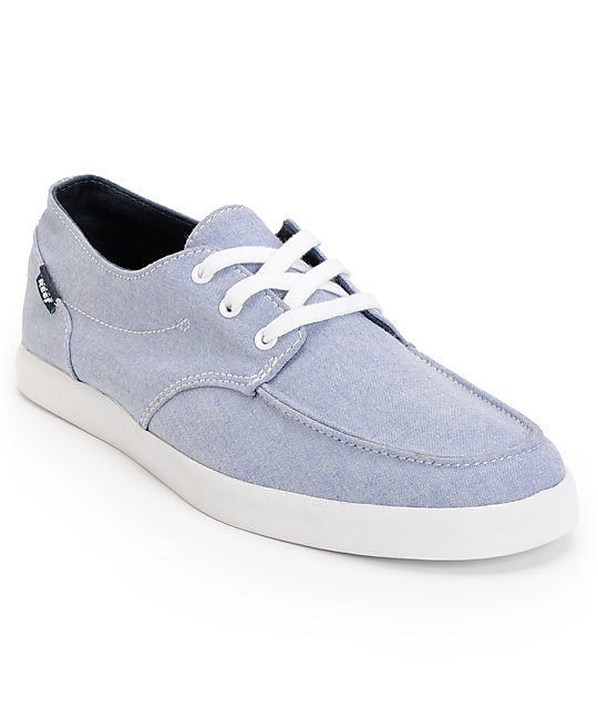 Reef Deck Hand 2 TX Blue Chambray Canvas Shoes