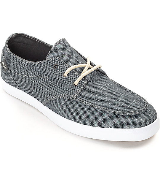 Reef Deck Hand 2 TX Charcoal White Shoes