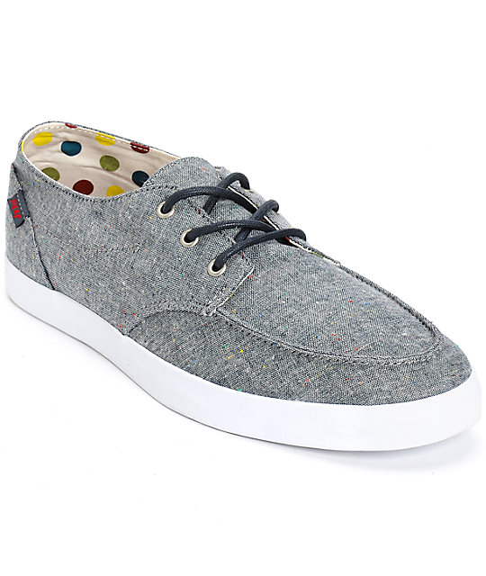 f4fc152f9f36 Reef Deck Hand 2 TX Navy Dots Shoes
