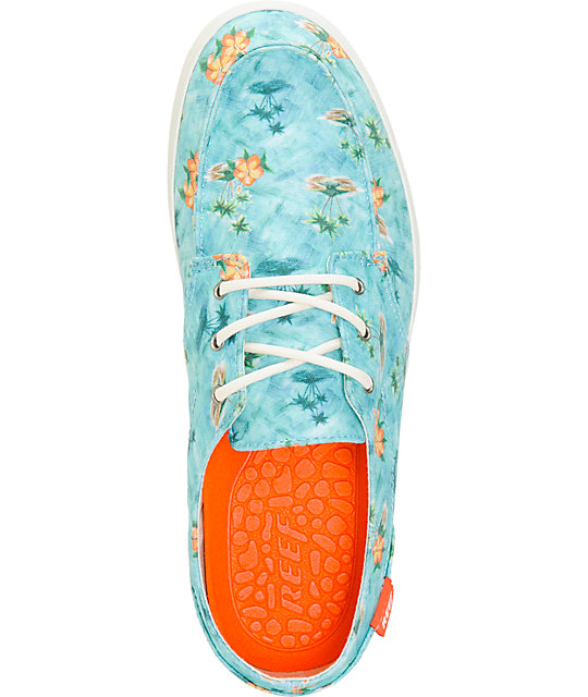 Reef Deck Hand 2 Turquoise Aloha Boat Shoes