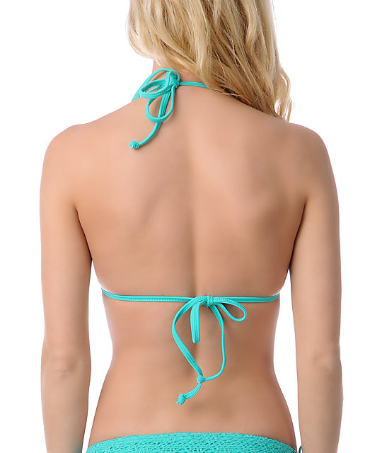 Reef Easy Breezy Crochet Turquoise Molded Bikini