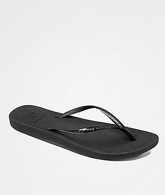 2435a5557ca5 Reef Escape Lux Black Sandals