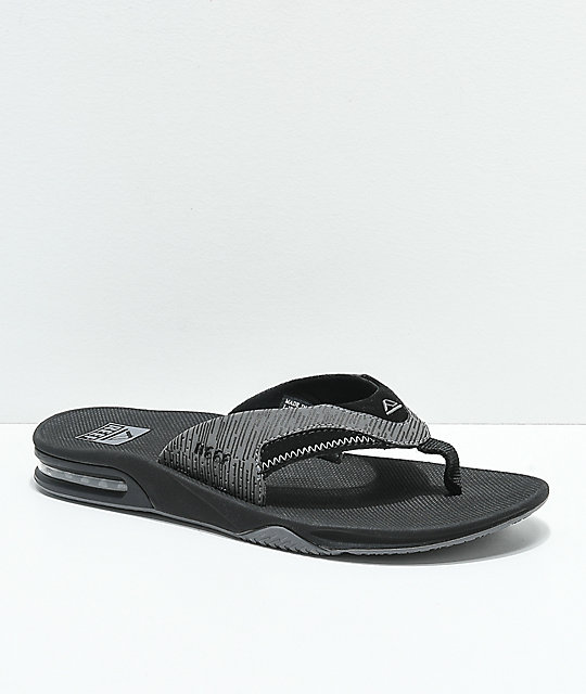 buy cheap distinctive style good texture Reef Fanning Black & Grey Sandals