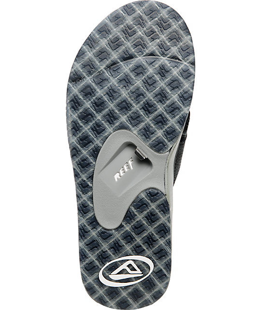 Reef Fanning Black Plaid Sandals