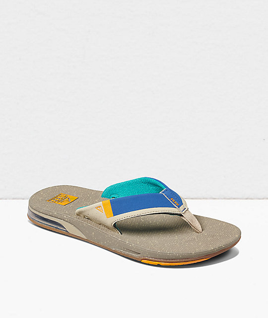 Reef Fanning Low Tan & Blue Sandals