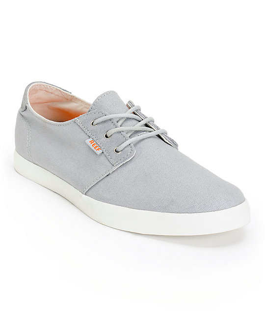 4fb1eb487097 Reef Gallivant Grey   White Canvas Shoes