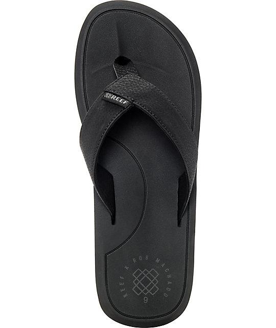 174f56ac3e2b ... Reef Machado Day Black Sandals ...