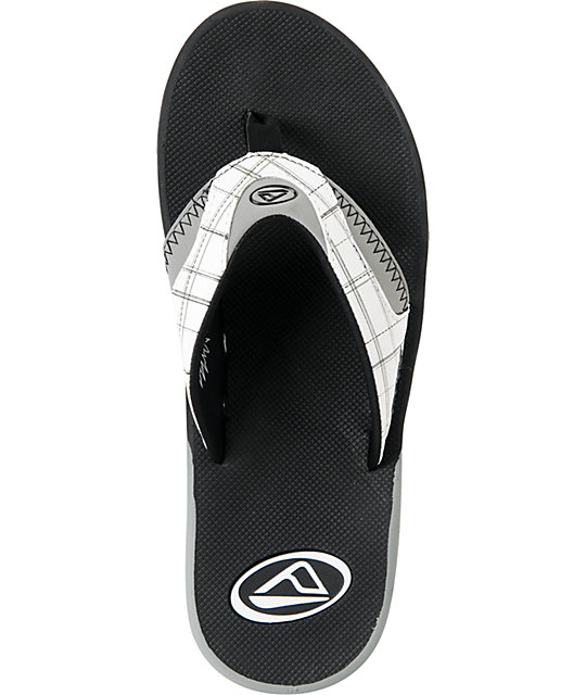 Reef Mick Fanning White Plaid Sandals