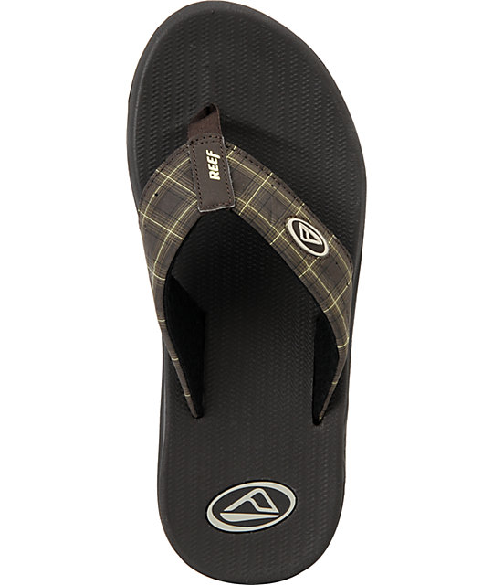 Reef Phantom Brown Plaid Sandals